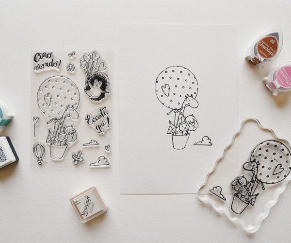 Set timbri in silicone tema Nascita
