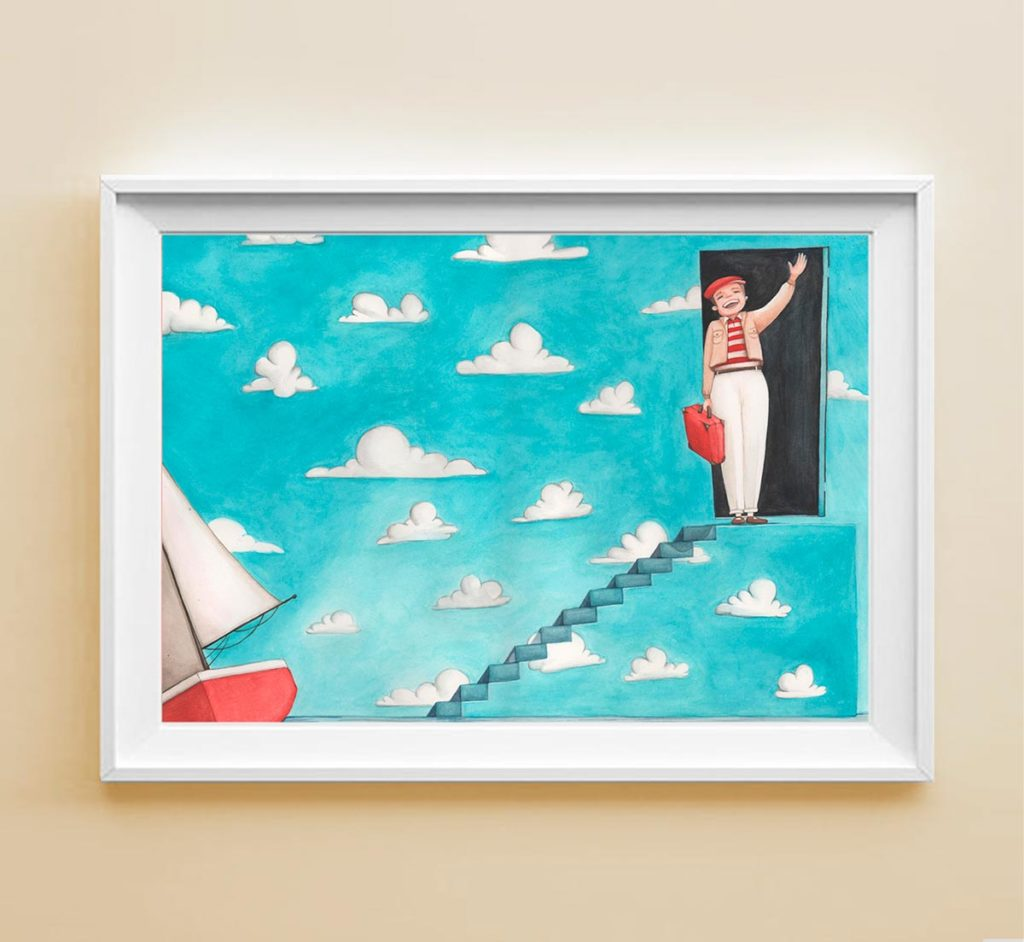 Stampa illustrata The Truman show in cornice
