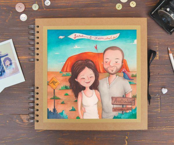 Album grande personalizzato con ritratto di viaggio