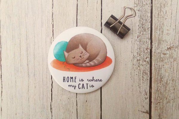 Calamita illustrata Home is where my cat is
