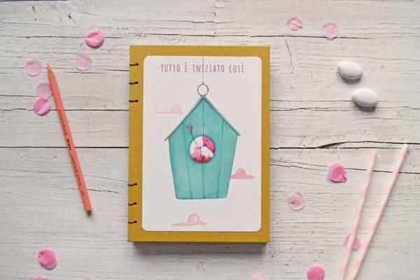 Diario del bebè con nido in copertina