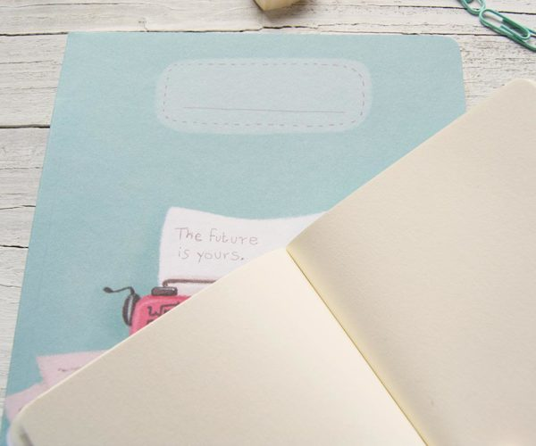 Quaderno artigianale con Macchina da scrivere