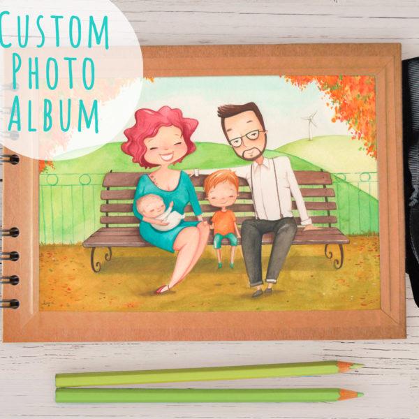 Album A5 con ritratto personalizzato