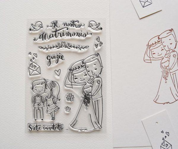 Set timbri in silicone tema Nozze