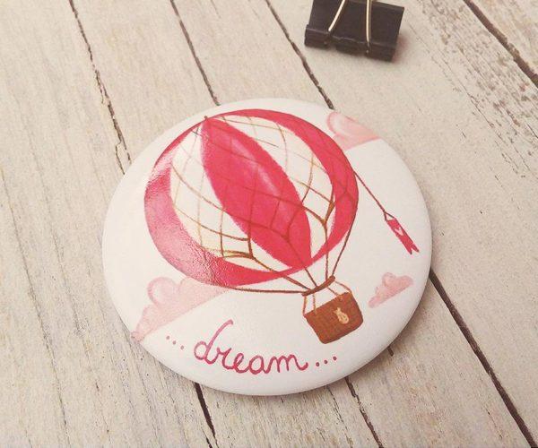 Calamita illustrata Dream mongolfiera