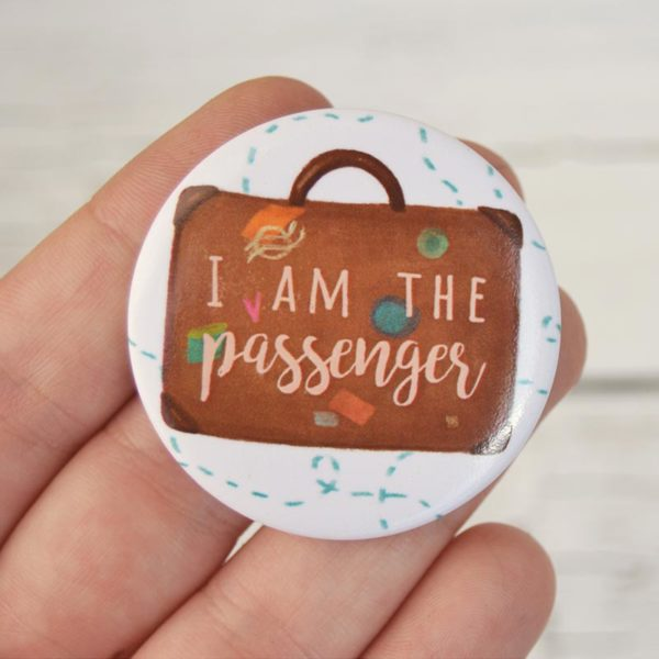 Spilla illustrata I am the passenger