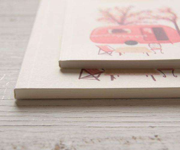 Quaderno artigianale con Roulotte in copertina