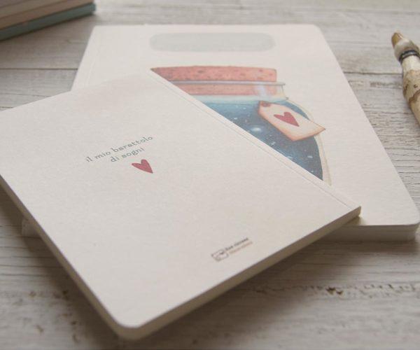 Quaderno artigianale Barattolo di sogni