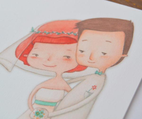 Dettaglio Biglietto d'auguri sposi Just Married