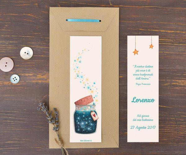 Segnalibro illustrato e Busta kraft con etichetta e nastrino