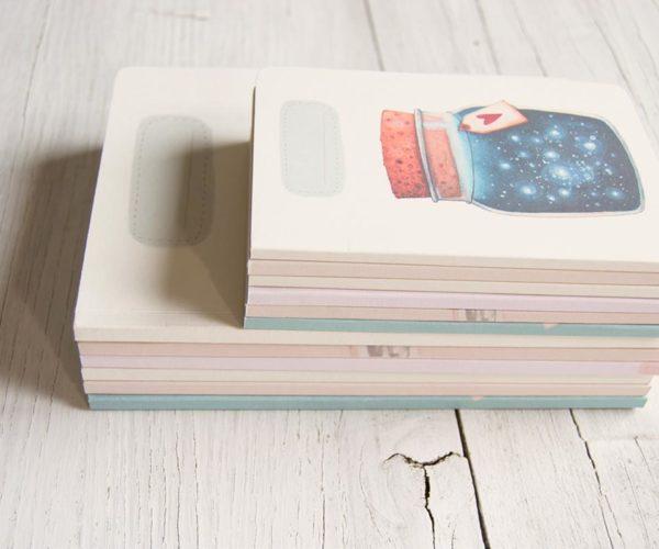 Quaderni artigianali con copertine illustrate