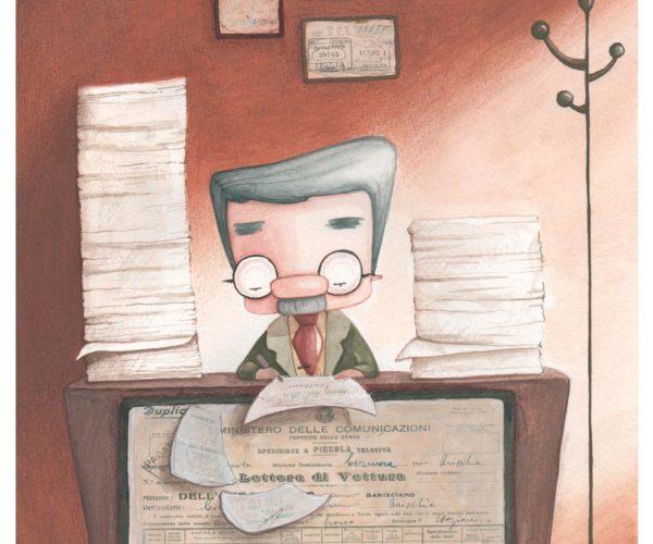 Stampa illustrata Impiegato