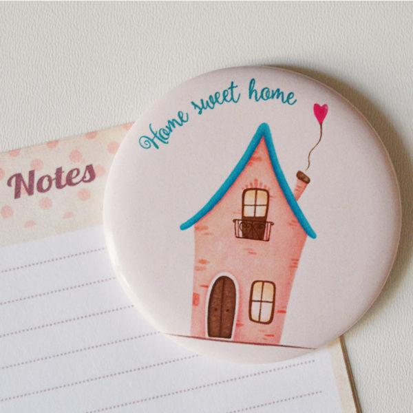 Calamita illustrata Home sweet home