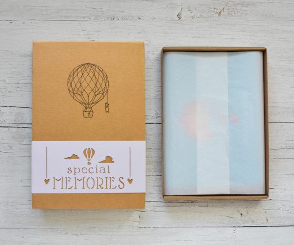 Box Special memories Scatola kraft aperta con velina