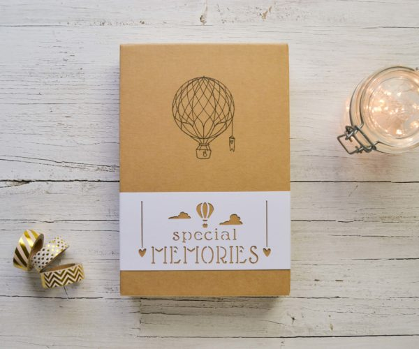 Box Special memories Scatola kraft con fascia decorativa