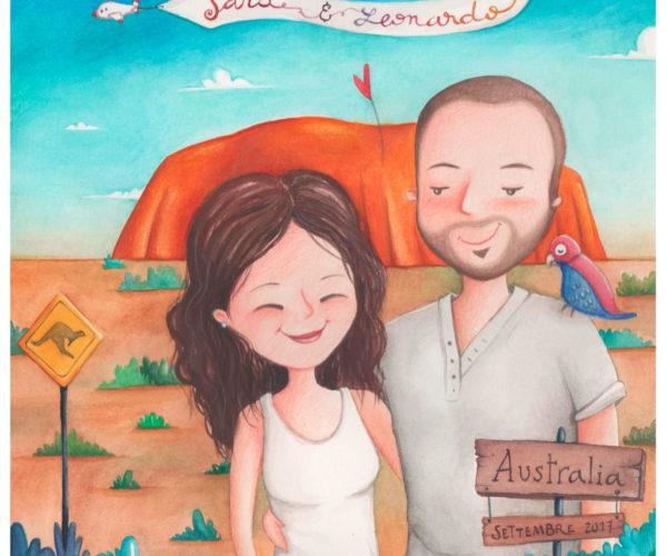 Ritratto personalizzato di viaggio Australia