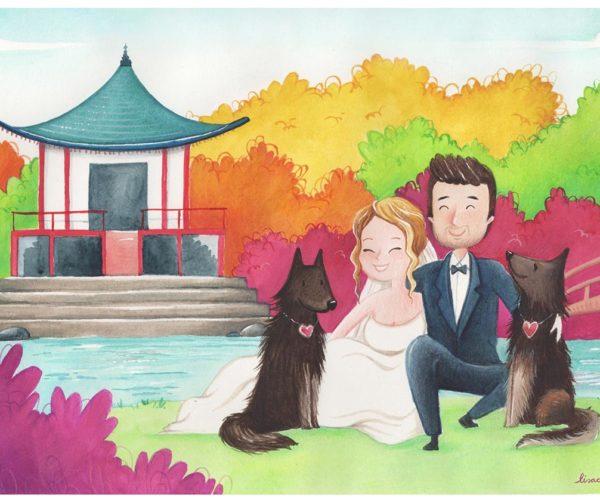 Ritratto personalizzato di nozze