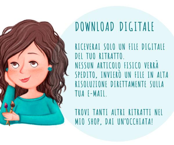 Istruzioni per download digitale ritratto