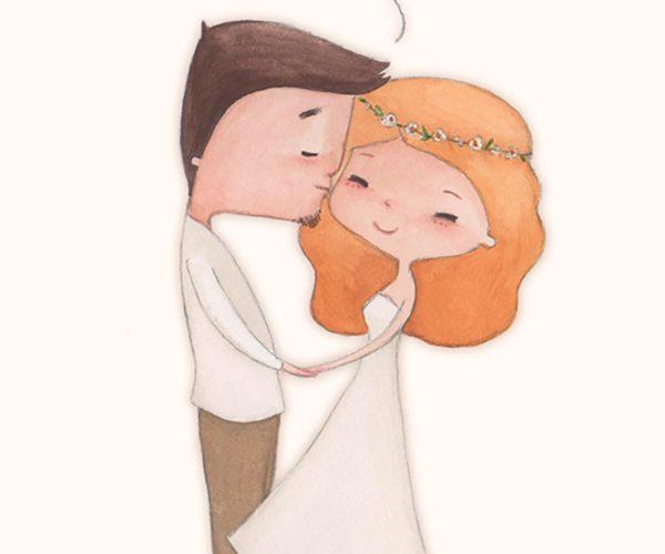 Illustrazione di nozze Congratulations