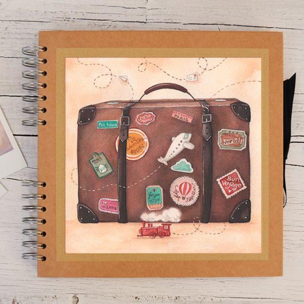 Album grande di viaggio con valigia