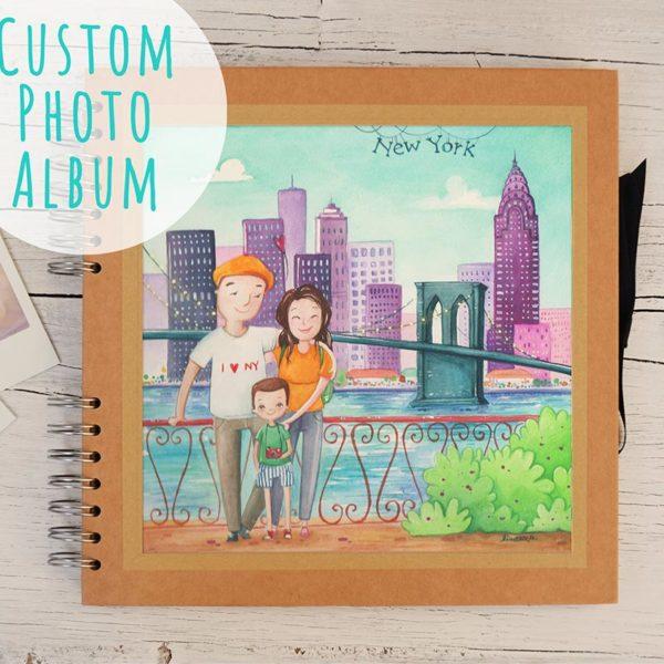 Album grande con ritratto di viaggio