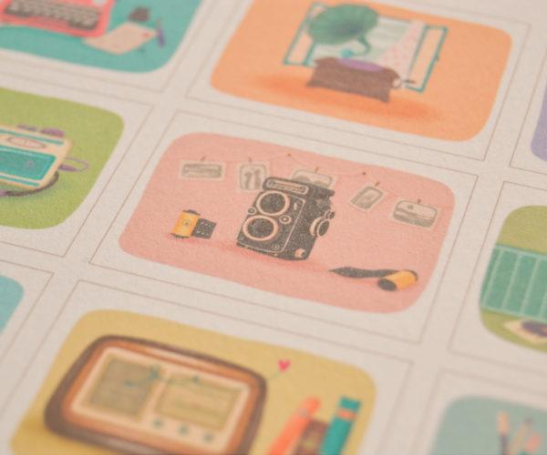 Illustrazioni Calendario 2020 Oggetti