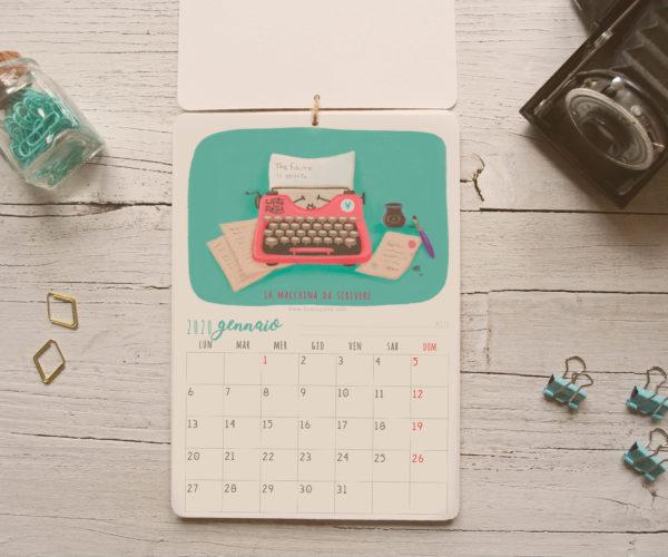 Illustrazione Gennaio Calendario 2020 Oggetti