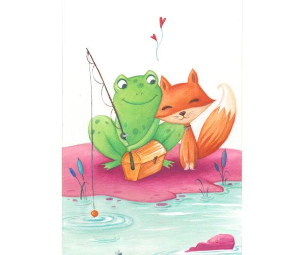 Stampa Amici a pesca