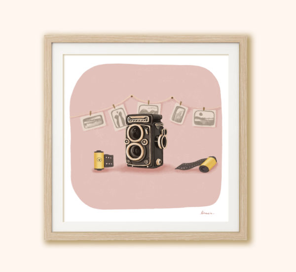 Stampa Macchina fotografica in cornice