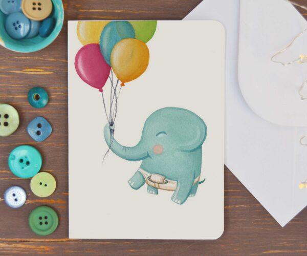 Biglietto elefantino