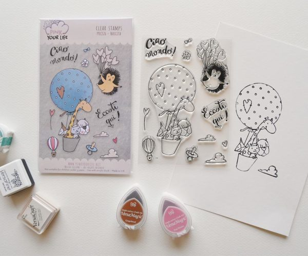 Clear stamps set Birth theme