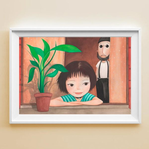 Illustrated print Léon & Mathilda