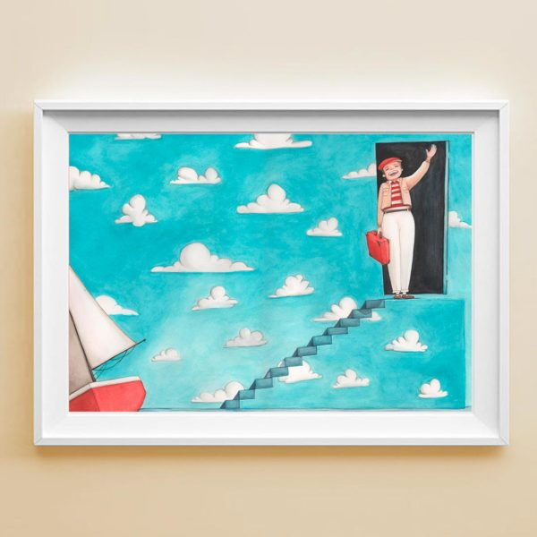 Illustrated print The Truman show