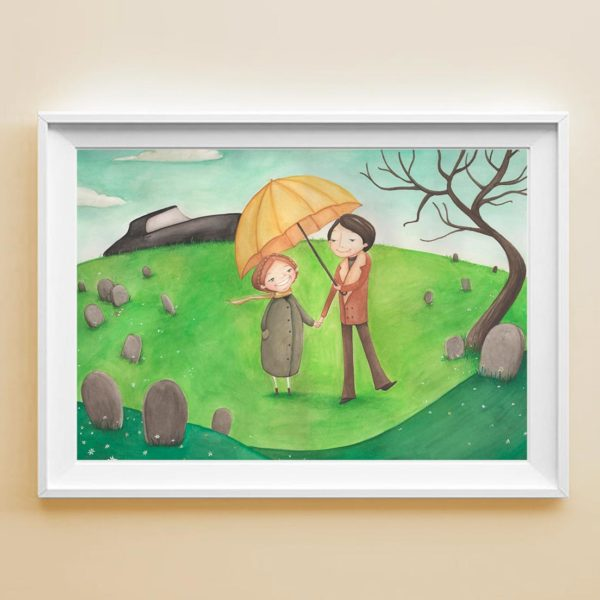 Illustrated print Harold & Maude