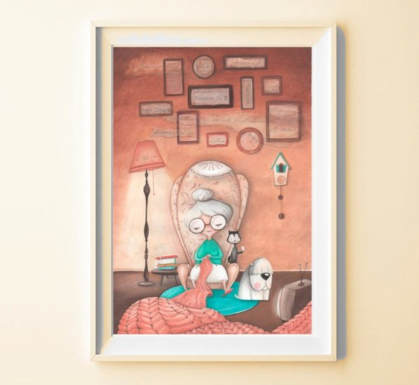 Illustrated print Granny