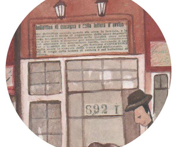 Illustrated print Amsterdam - Details