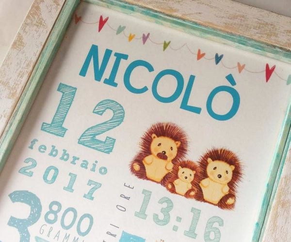 Custom newborn poster - Details