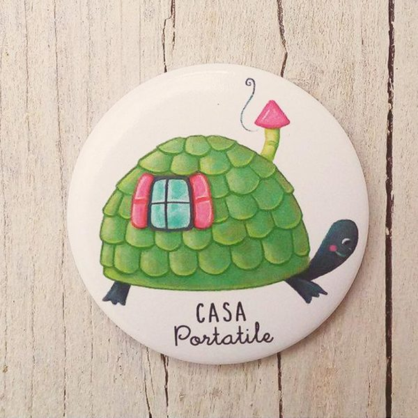 Illustrated magnet Casa portatile