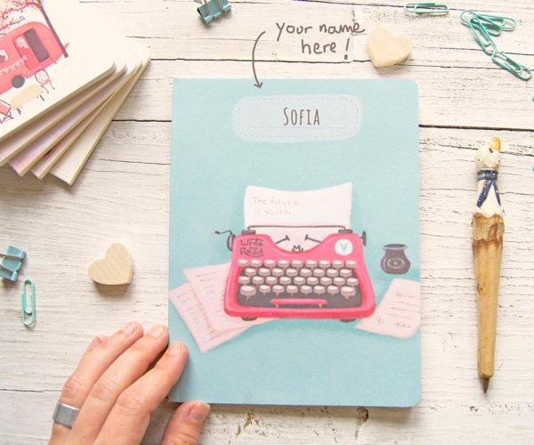 Customization Handmade notebook with name