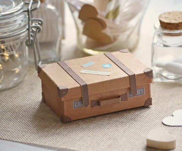 Miniature cardboard suitcase