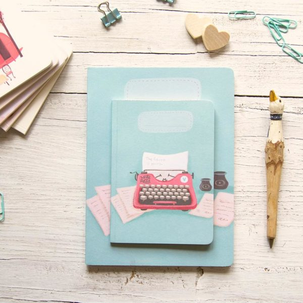 Handmade notebook Typewriter
