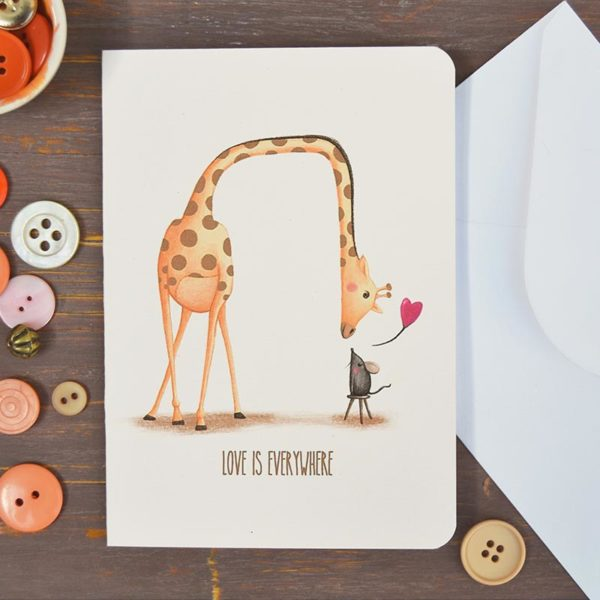 Greeting card Love is everywhere