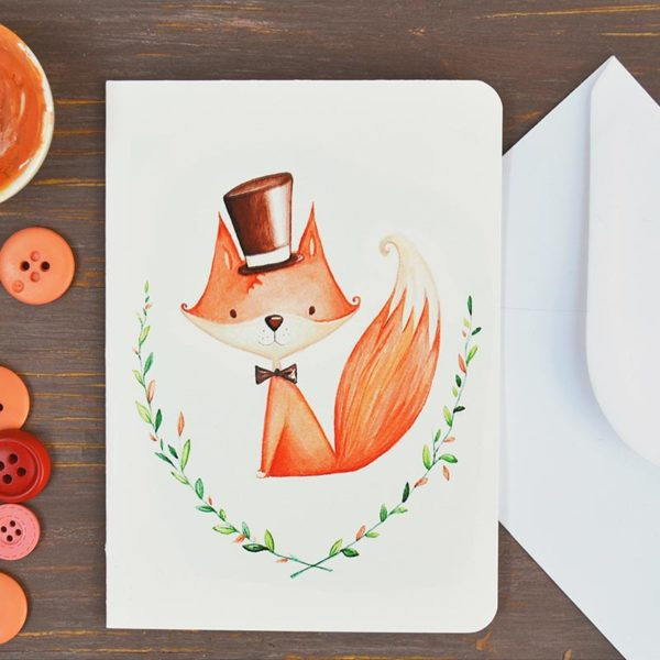 Greeting card Male fox