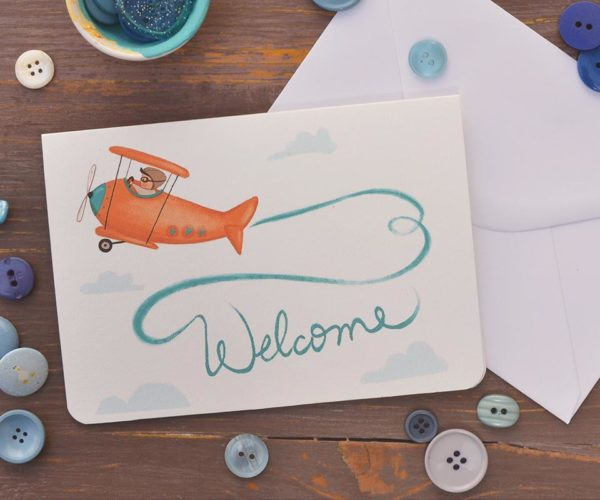 Greeting card Welcome baby