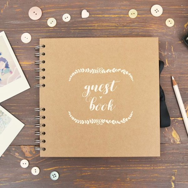 Kraft photo album - Guest book