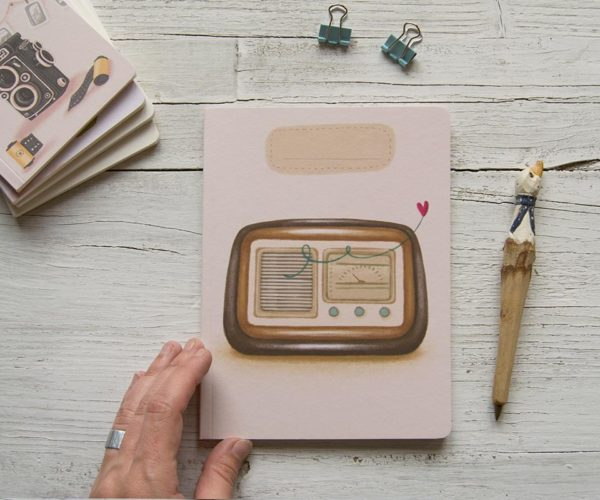 Handmade notebook Vintage radio
