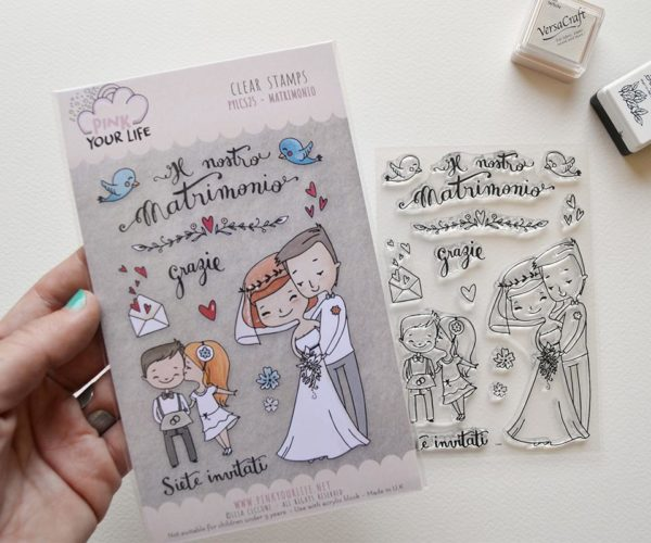 Clear stamps set Wedding theme