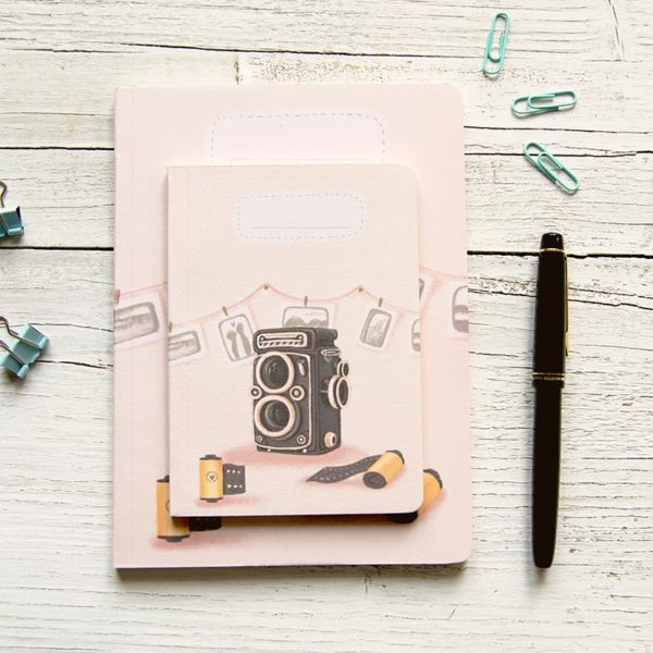 Handmade notebook Vintage camera