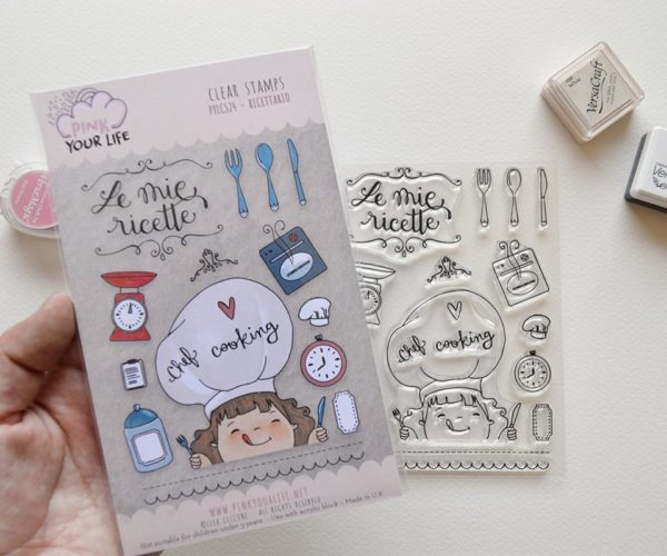 Clear stamps set Cook theme