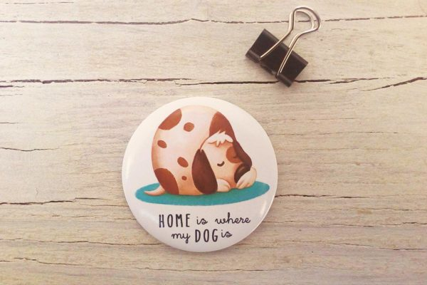 Illustrated magnet Dog